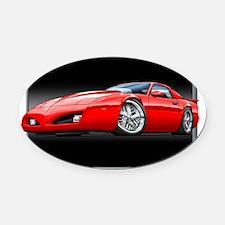 91_92_Firebird_Red Oval Car Magnet