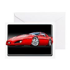 91_92_Firebird_Red Greeting Card