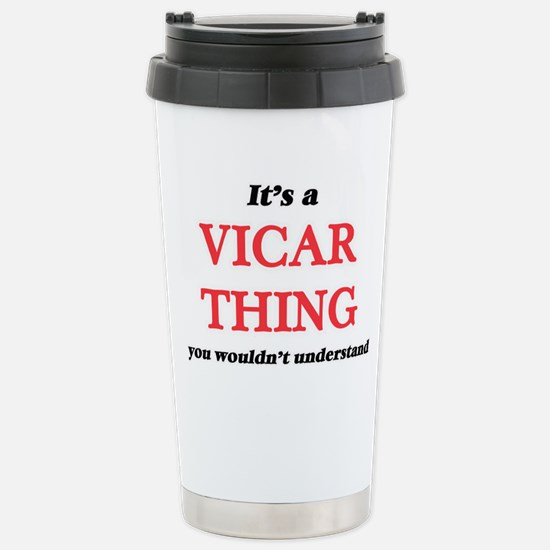 It's and Vicar thin Stainless Steel Travel Mug