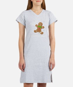 Gingerbread Man Law Suit3 3D LT Women's Nightshirt