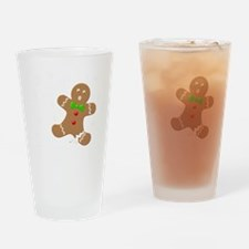 Gingerbread Man Law Suit3 3D LT Drinking Glass