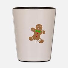 Gingerbread Man Law Suit3 3D LT Shot Glass