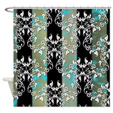 Elegant Damask by Leslie Harlow Shower Curtain