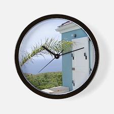 Bedroom overlooking the seas, St. Croix Wall Clock