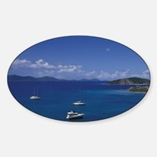 Caribbean, British Virgin Islands V Sticker (Oval)
