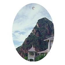 Caribbean, BWI, St. Lucia, the Beau  Oval Ornament