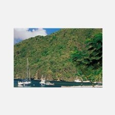 Caribbean, St. Lucia, Soufriere.  Rectangle Magnet