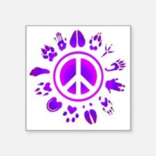 "furry peace2 Square Sticker 3"" x 3"""