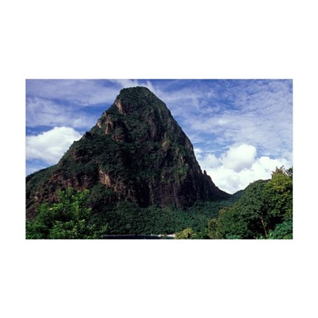 Caribbean, BWI, St. Lucia, the Be 35x21 Wall Decal
