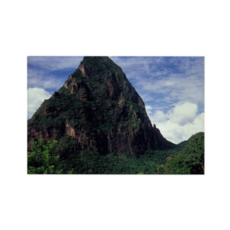 Caribbean, BWI, St. Lucia, the Be Rectangle Magnet