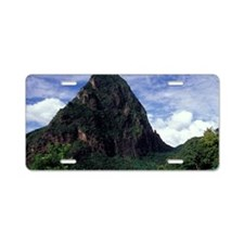 Caribbean, BWI, St. Lucia,  Aluminum License Plate