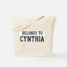 Belongs to Cynthia Tote Bag