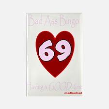 BAB 69 dark 3000 Rectangle Magnet