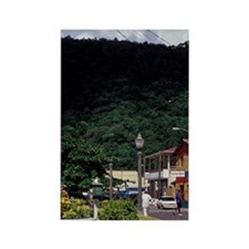 Caribbean, BWI, St. Lucia, Waterf Rectangle Magnet