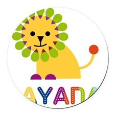 Dayana-the-lion Round Car Magnet