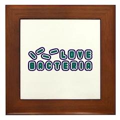 Love Bacteria Framed Tile