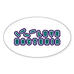 Love Bacteria Oval Decal