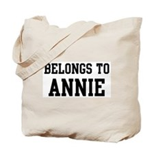 Belongs to Annie Tote Bag