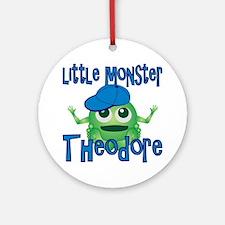 theodore-b-monster Round Ornament