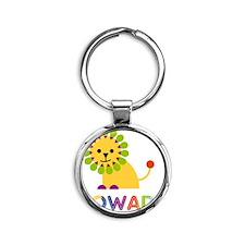 Rowan-the-lion Round Keychain