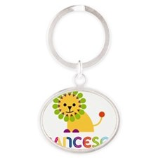 Francesca-the-lion Oval Keychain