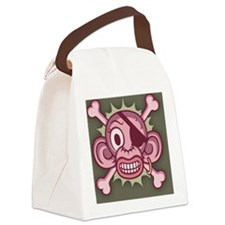 monkey-pirate-pnk-OV Canvas Lunch Bag