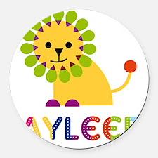 Jayleen-the-lion Round Car Magnet