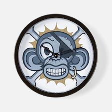 monkey-pirate-blu-T Wall Clock