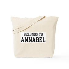 Belongs to Annabel Tote Bag