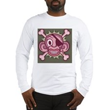 monkey-pirate-pnk-CRD Long Sleeve T-Shirt