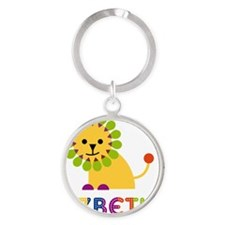 Lizbeth-the-lion Round Keychain