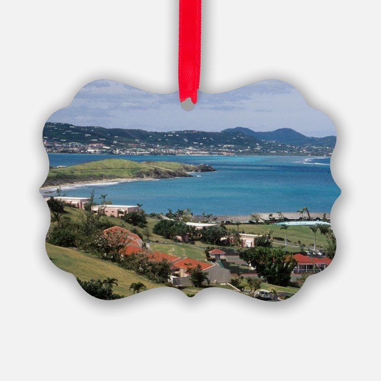 View of Christiansted from above  Ornament