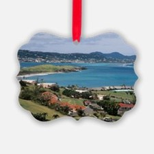 View of Christiansted from above  Picture Ornament