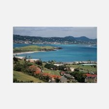 View of Christiansted from above  Rectangle Magnet