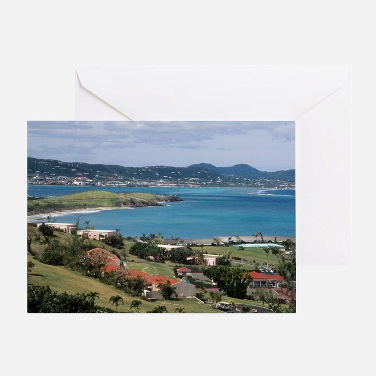 View of Christiansted from above the Greeting Card