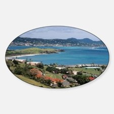 View of Christiansted from above th Sticker (Oval)
