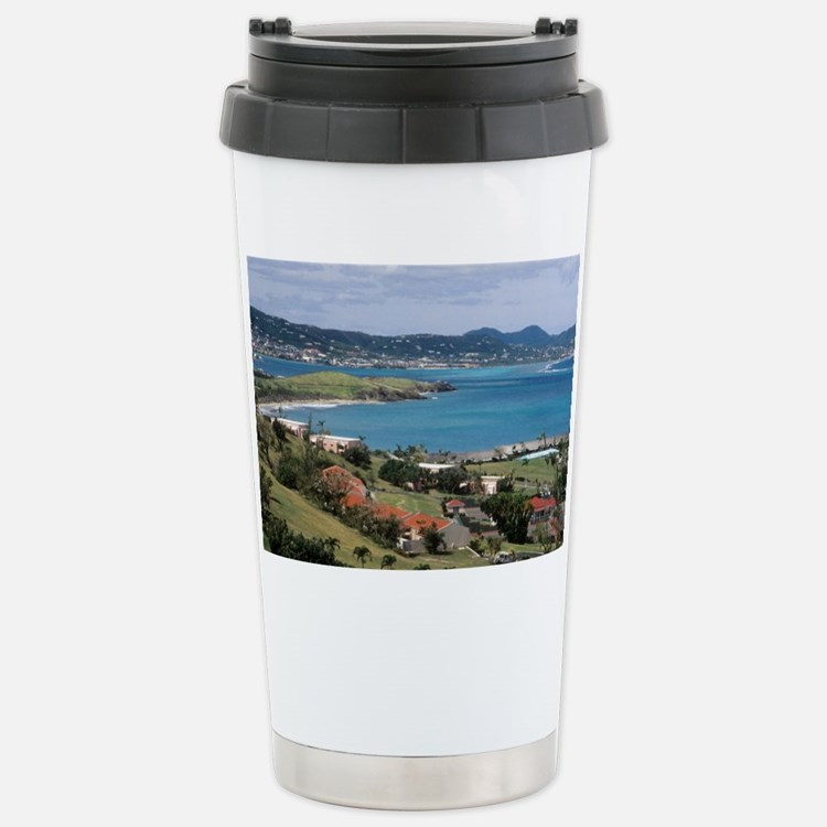 View of Christiansted from abov Travel Mug