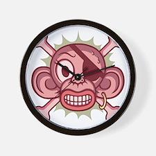monkey-pirate-pnk-T Wall Clock