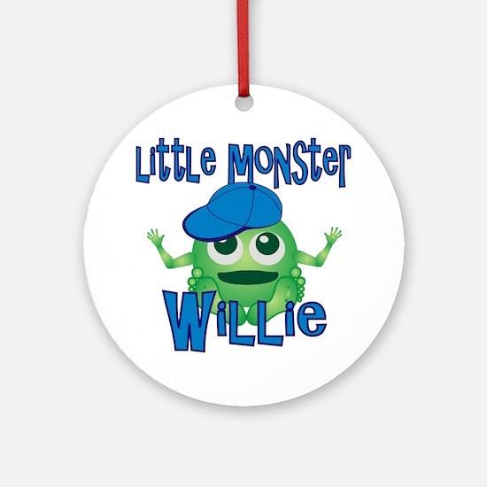 willie-b-monster Round Ornament