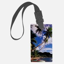 Lucia, Fishing boats and Pitons, Luggage Tag