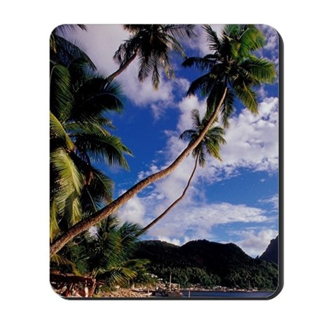 Lucia, Fishing boats and Pitons, Soufrie Mousepad
