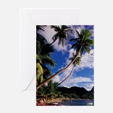 Lucia, Fishing boats and Pitons, Sou Greeting Card