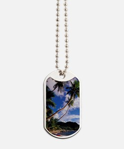 Lucia, Fishing boats and Pitons, Soufrier Dog Tags