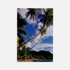 Lucia, Fishing boats and Pitons,  Rectangle Magnet