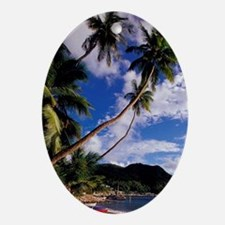 Lucia, Fishing boats and Pitons, Sou Oval Ornament