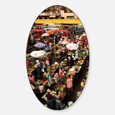 Caribbean fruit market from above. Decal