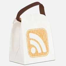 InkRSSICONfadedWEATHER Canvas Lunch Bag