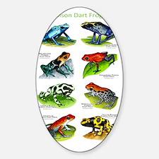 Poison Dart Frogs Sticker (Oval)