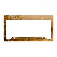PondRisingFog_4X6 License Plate Holder