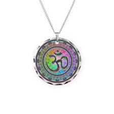 OM-mandala Necklace Circle Charm